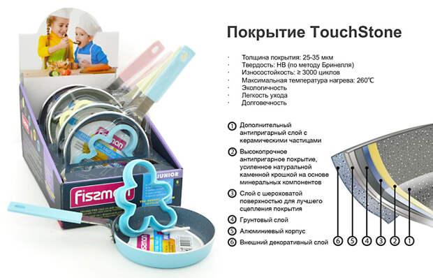 Посуда FISSMAN: сковорода для жарки Junior с формочкой для яичницы.