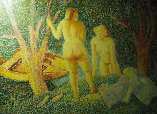 Обнаженная натура в изобразительном искусстве разных стран. Часть 177
