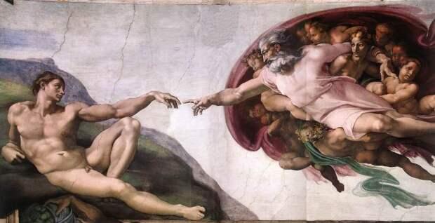 Микеланджело. Творение Адама