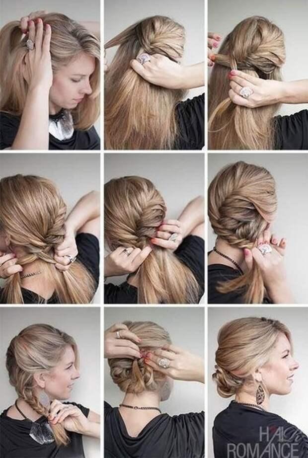 Эффектная прическа из полудлинных волос