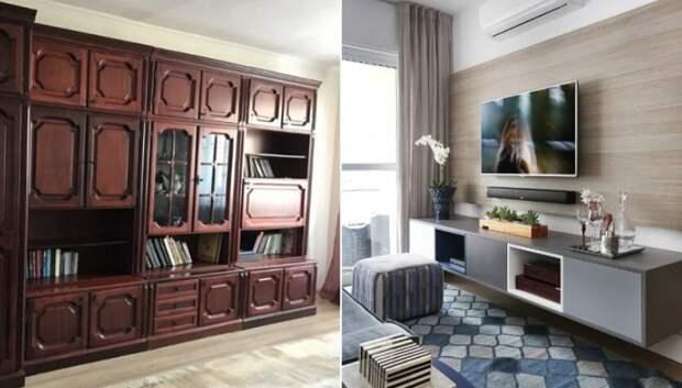 8 вариантов, чем заменить мебельную стенку в гостиной, от которой давно пахнет нафталином