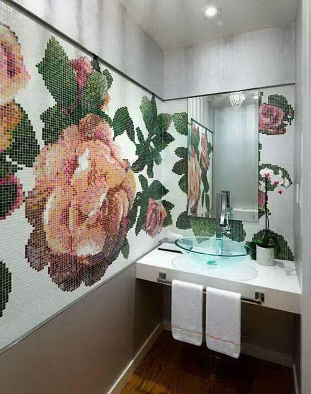 Ванная комната вышита крестиком