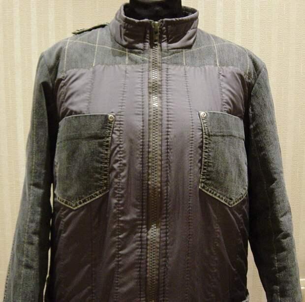 Куртка из старых джинсов