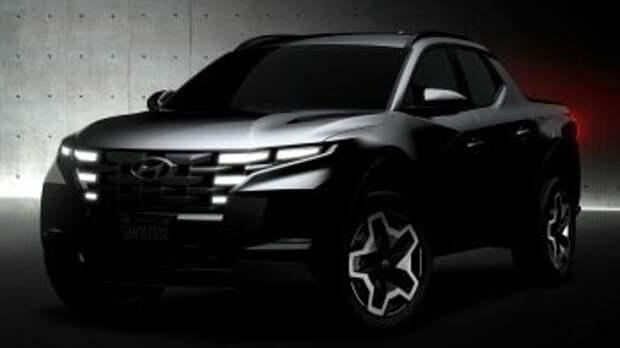 Экстерьер пикапа Hyundai Santa Cruz 2022 года представлен на первых официальных фотографиях!