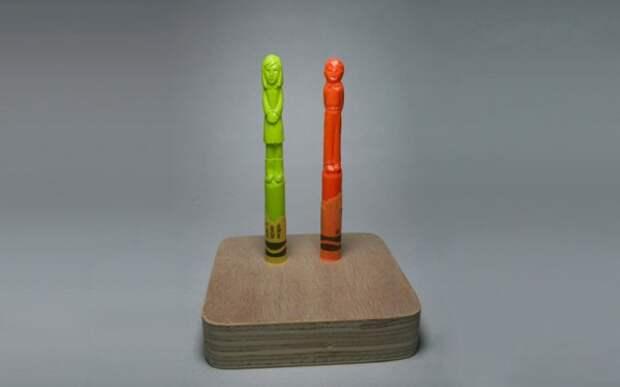 Скульптуры из карандашей (10 фото)