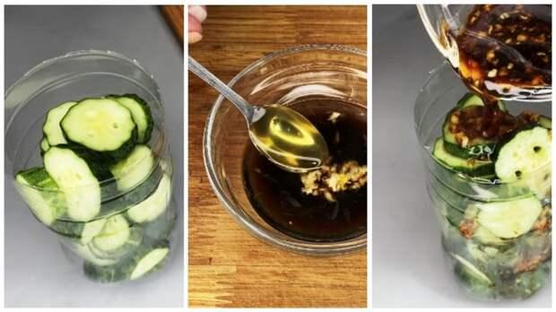 Готовлю вкусную закуску из огурцов в бутылке: очень просто, а результат превосходит все ожидания