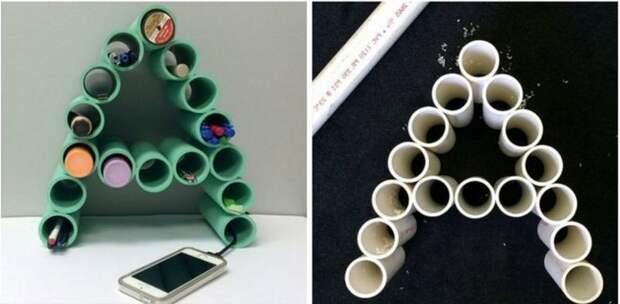 Поделки из пластиковых труб ПВХ