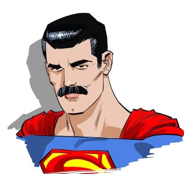 Знакомьтесь, усатый Супермен!