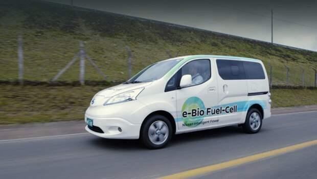 Основой для проекта под названием е-Bio Fuel-Cell послужил электрический фургон Nissan e-NV200. nissan, электромобиль