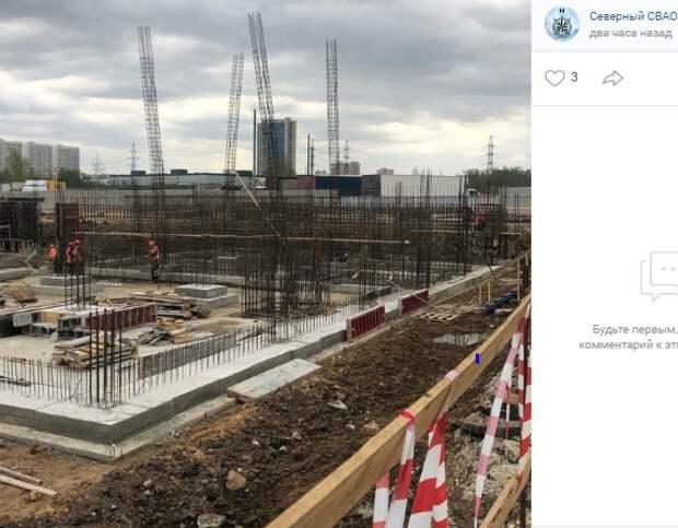 Фотокадр: строительство пожарного депо в Северном