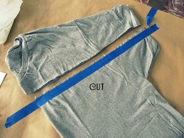 Платье из футболки (без шитья)