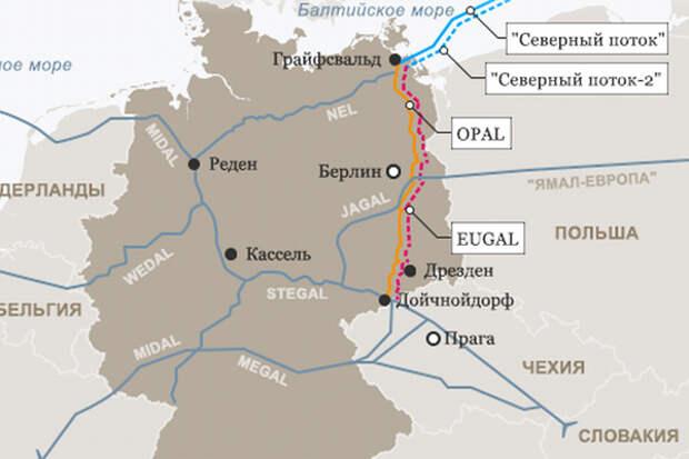 """Объявлен тендер на мощности EUGAL, продолжения """"Северного потока-2"""""""