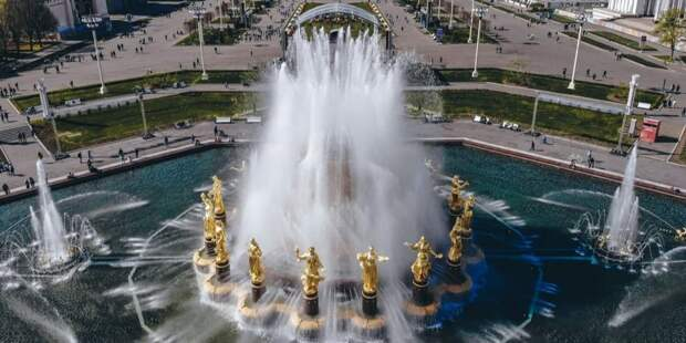 Собянин открыл сезон фонтанов в Москве.Фото: Е. Самарин mos.ru