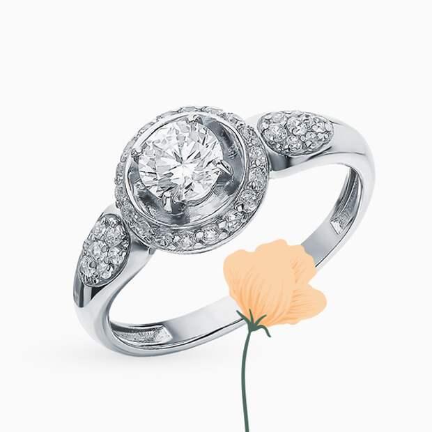 Кольцо Efremov, серебро, фианиты