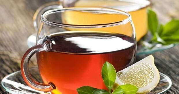 зеленый чай и лимон фото