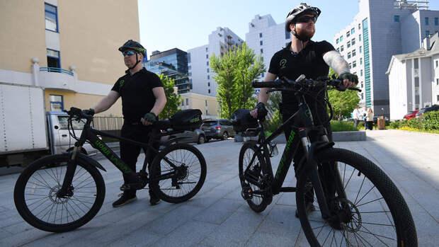 На улицах Москвы появился велопатруль