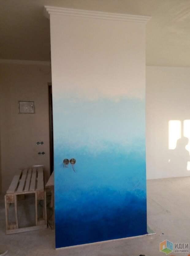 Самостоятельная покраска стен градиентом