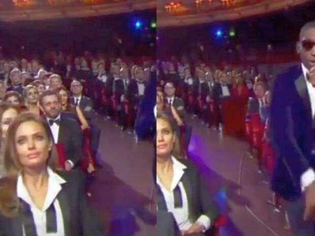 Интернет-пользователи оценили покерфейс Анджелины Джоли во время концерта