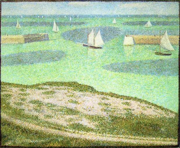 Seurat Port-en-Bessin- Entrance to the Harbor, 1888,. Сера, Жорж