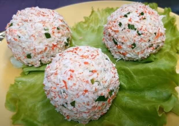 Крабовые снежки: вкусная закуска к празднику