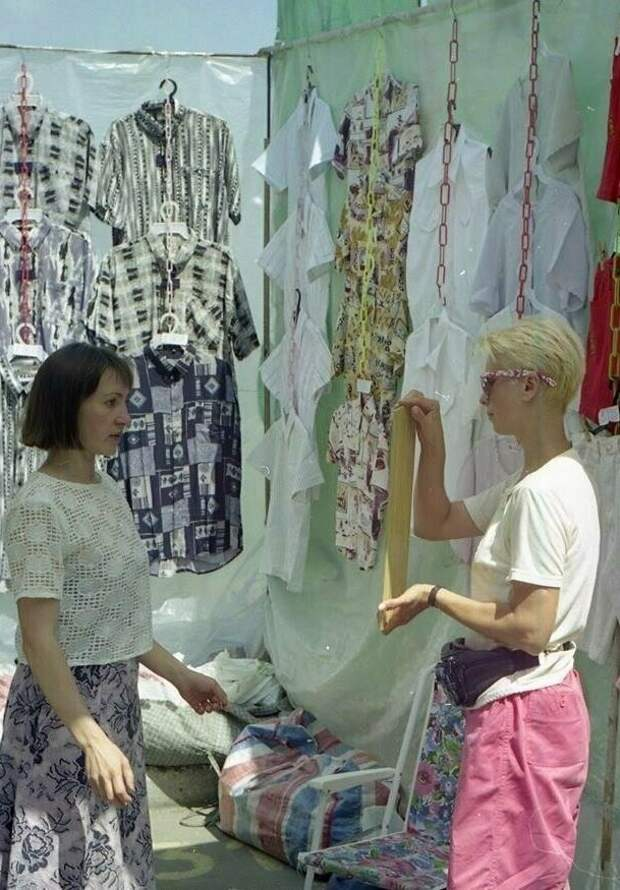 Забавная женская мода из 90-х годов.