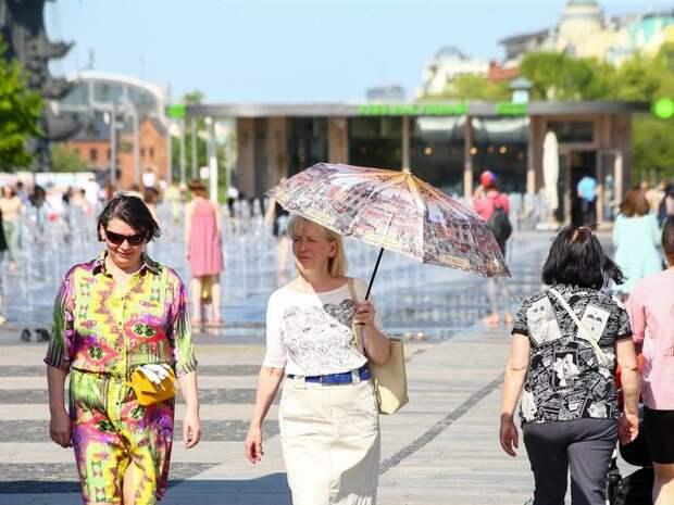 В Москве установилась субтропическая жара