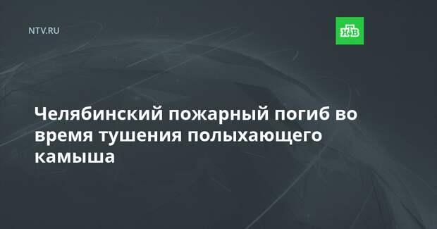 Челябинский пожарный погиб во время тушения полыхающего камыша
