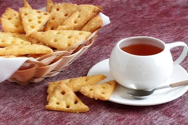 Сладкие крекеры к чаю