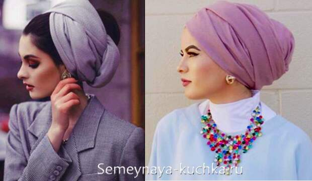 Как правильно повязать шарф на голову