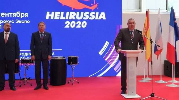 Рогозин рассказал о счастье управления вертолетом