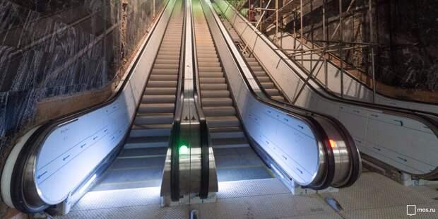 У эскалатора на станции МЦД «Марьина Роща» будет более 700 ступеней
