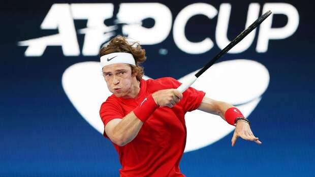 Рублев победил Фоньини в 1-м матче финала ATP Cup Россия — Италия