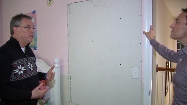 Из стены частного дома в Иллинойсе раздаются непонятные голоса