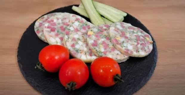 А вы ели колбасу из окрошки?! Удивите гостей. Это вкусно и прикольно.