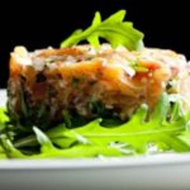 Тар-тар из красной рыбы с сыром «Филадельфия»
