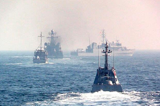 Украина начала учения в Черном море