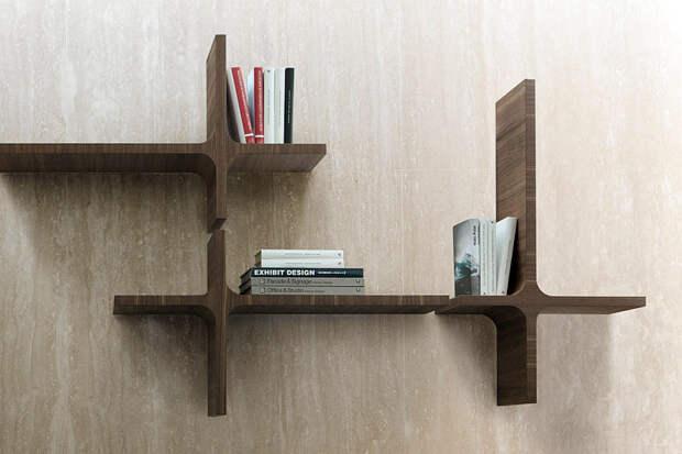 5 модных деревянных книжных полок от итальянской фирмы Porada