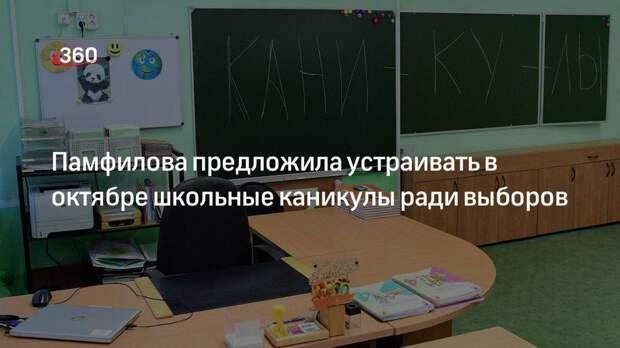 Памфилова предложила устраивать в октябре школьные каникулы ради выборов