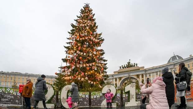 Сувенирные часы из ствола главной новогодней ели изготовили в Петербурге