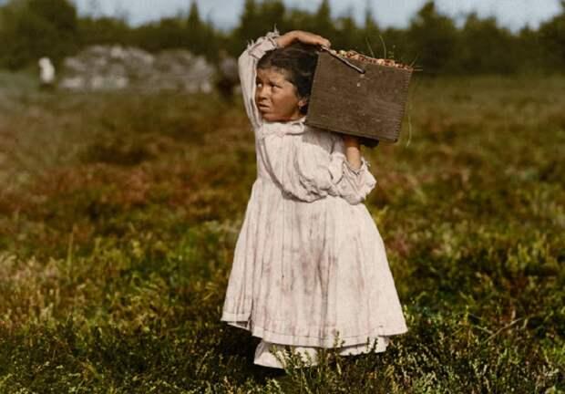 Ретро фотографии американских детей, которые в начале XX века работали наравне со взрослыми