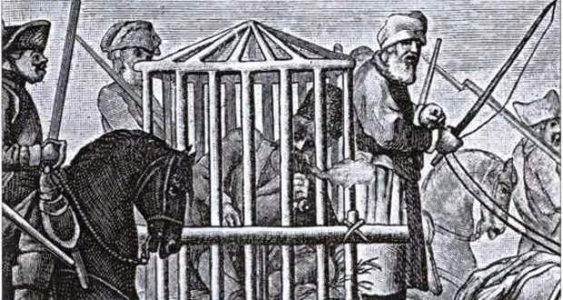 Емелька Пугачев под конвоем. Гравюра XVIII века