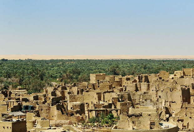 Средневековая крепость Шали в оазисе Сива на территории Египта