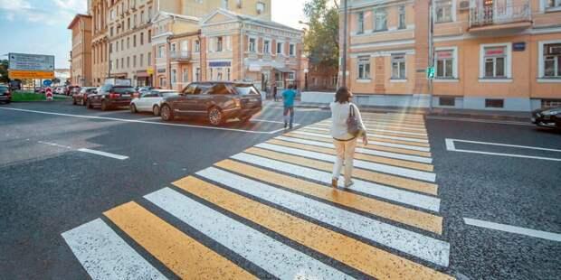 Диагональные пешеходные переходы в Северном Тушине отметят пунктиром