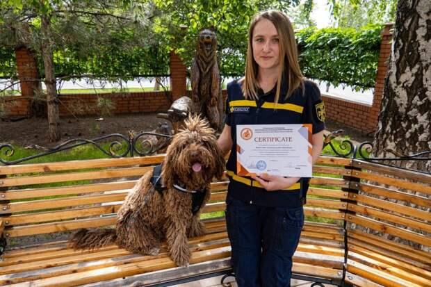 В Украине собака-псиолог получила сертификат терапевта