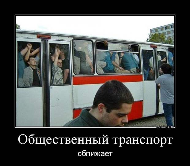 Общественный транспорт сближает демотиватор, демотиваторы, жизненно, картинки, подборка, прикол, смех, юмор