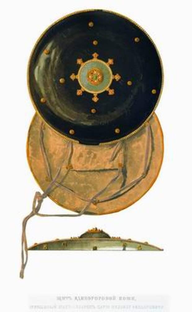 Щит «инроговый», присланный шахом Аббасом царю Михаилу Федоровичу