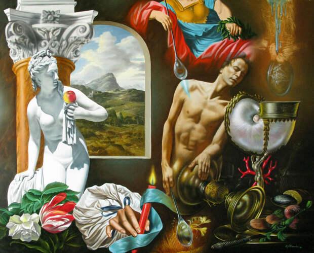 Обнаженная натура в изобразительном искусстве разных стран. Часть 109.