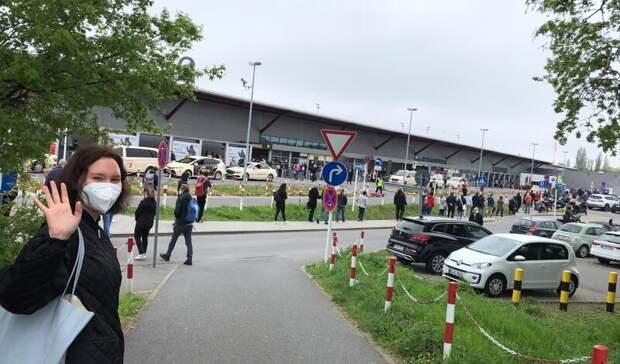 Фото дня: очередь за прививкой от ковида в Берлине растянулась на сотни метров
