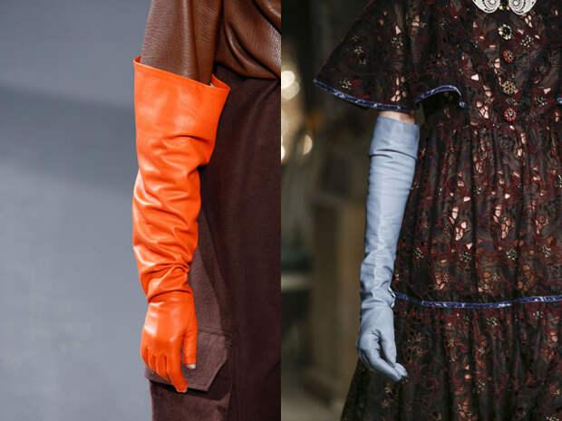 Модные кожаные перчатки осень-зима 2016-2017
