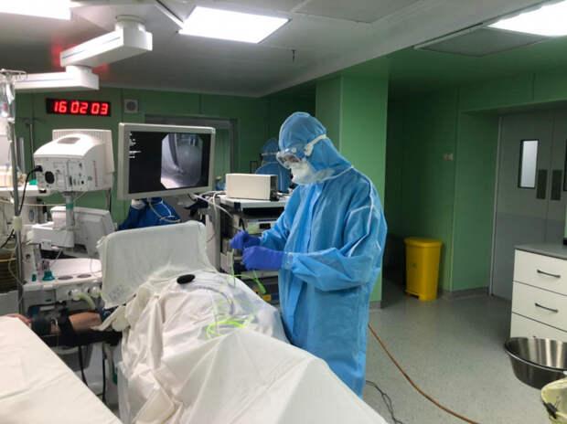 В ККБ №2 эндоскописты провели уникальную операцию в условиях «ковидного» госпиталя